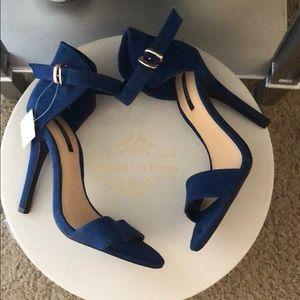 Royal blue strappy heels